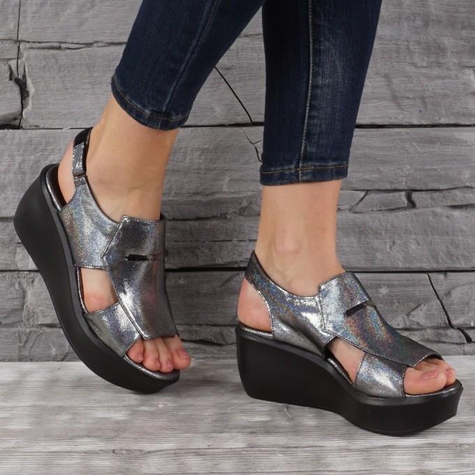 Дамски сандали естествена кожа VISINI 7838
