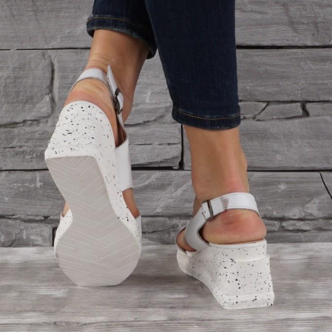 Дамски сандали естествена кожа VISINI 7843
