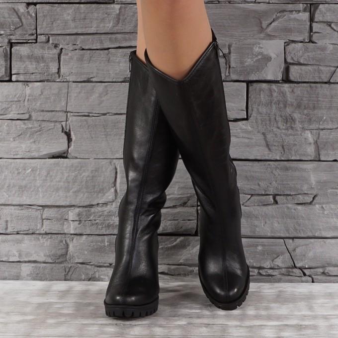 Дамски ботуши естествена кожа VISINI 7877