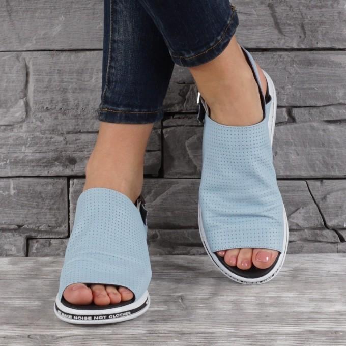 Дамски сандали естествена кожа GS 7888