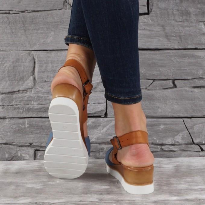 Дамски сандали естествена кожа GS 7924