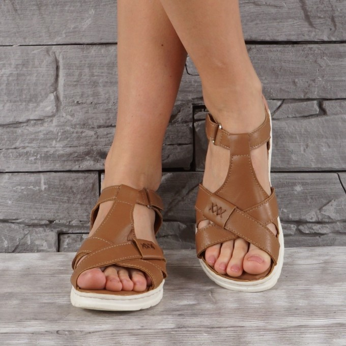Дамски сандали естествена кожа GS 7925