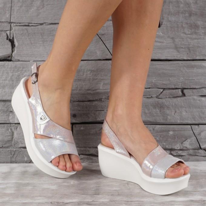Дамски сандали естествена кожа VISINI 7930