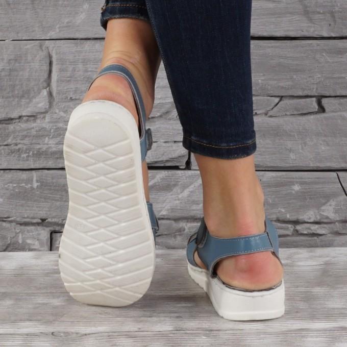 Дамски сандали естествена кожа GS 7946