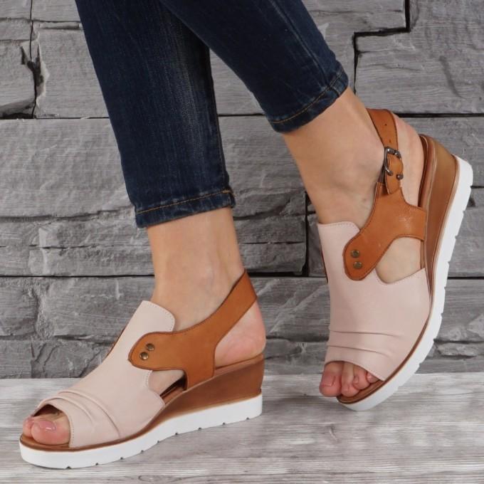 Дамски сандали естествена кожа GS 8078
