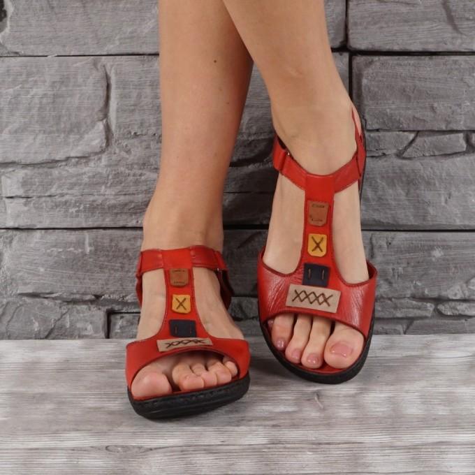 Дамски сандали естествена кожа GS 8079
