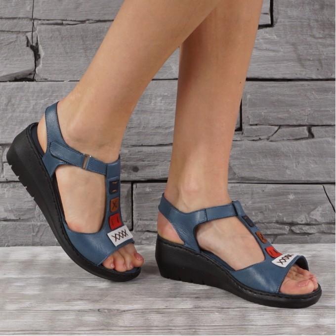 Дамски сандали естествена кожа GS 8082