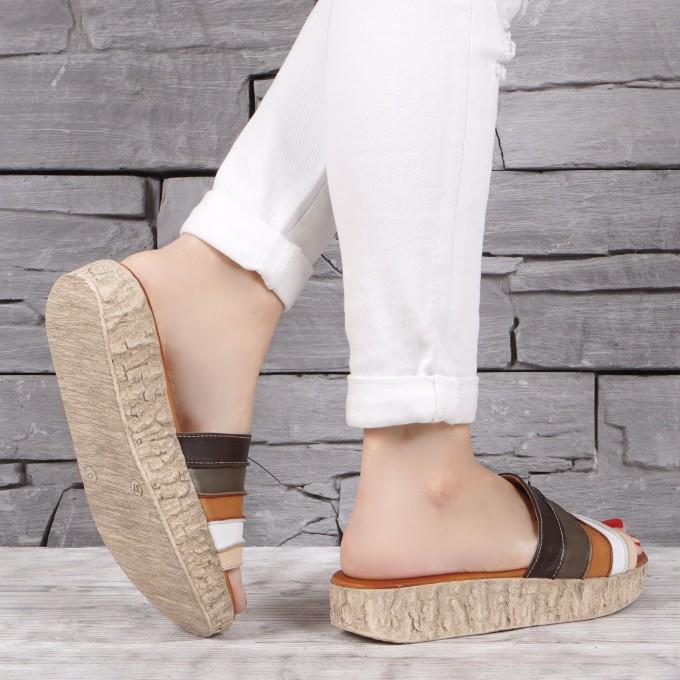 Дамски чехли естествена кожа GS 1945