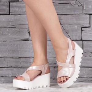 Дамски сандали естествена кожа VISINI 2039