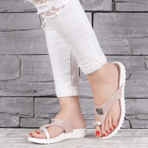 Дамски чехли естествена кожа  2141