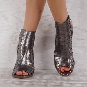 Дамски сандали естествена кожа GS 4768