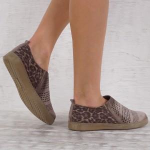 Дамски Обувки есествен набук VISINI 6947