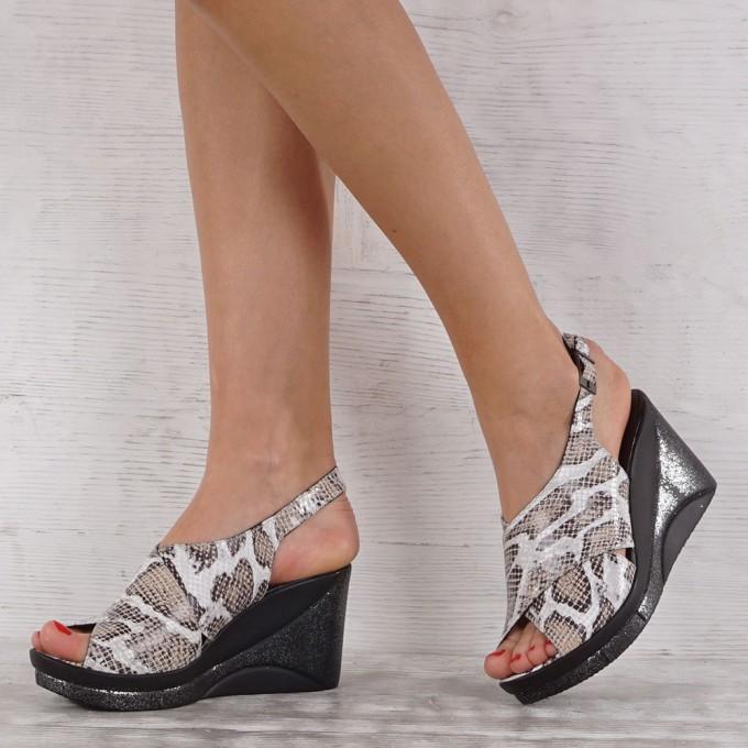 Дамски сандали естествена кожа VISINI 7080