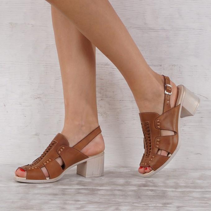 Дамски сандали естествена кожа VISINI 7087