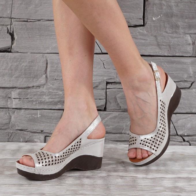 Дамски сандали естествена кожа GS 7139