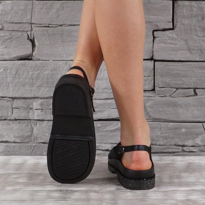 Дамски сандали естествена кожа GS 7159