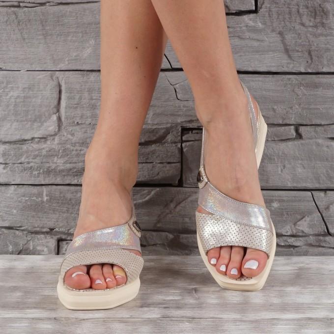 Дамски сандали естествена кожа VISINI 7896