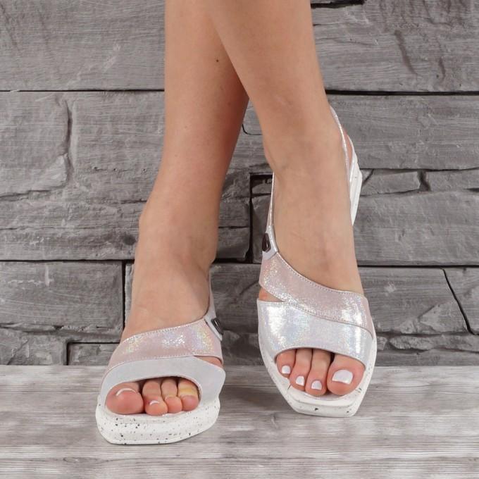 Дамски сандали естествена кожа VISINI 7899