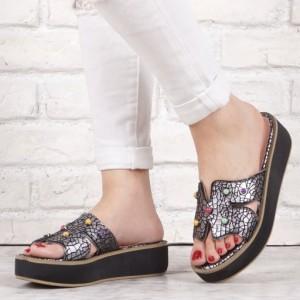 Дамски чехли естествена кожа GS 1694