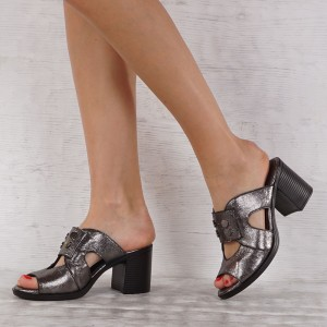 Дамски чехли естествена кожа GS 4126