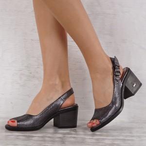 Дамски сандали естествена кожа GS 4144