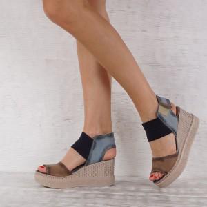 Дамски сандали естествена кожа VISINI 4532