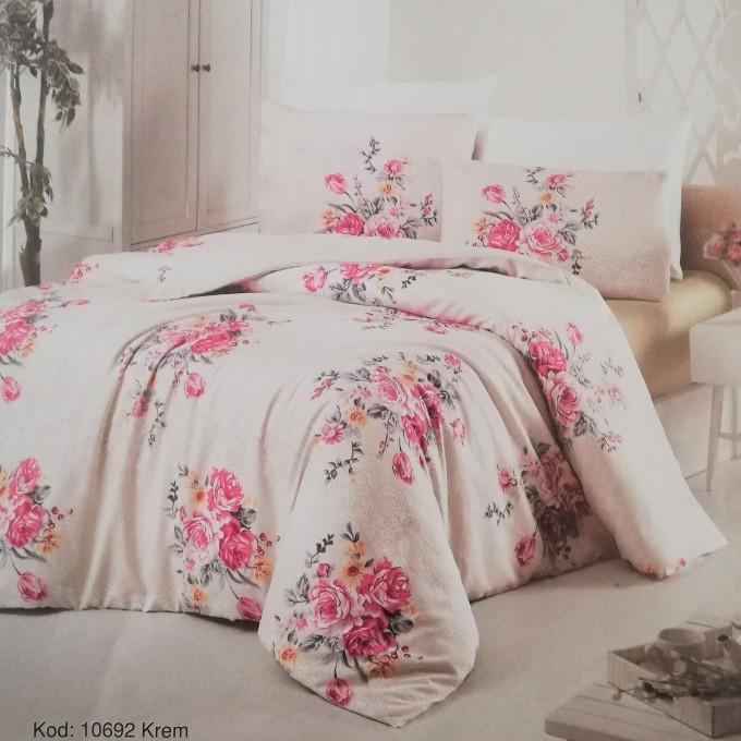 спален комплект-единичен 10692-Poplin памук 160x220