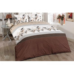 спален комплект-единичен BAMBOO KAHVE  RANFORCE памук 160x220