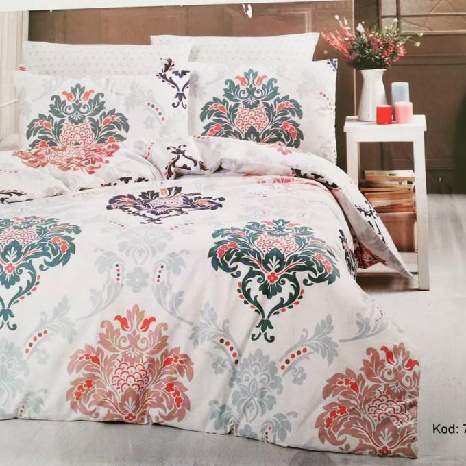 спален комплект-единичен AYTUNC 70012-1 RANFORCE памук 160x220