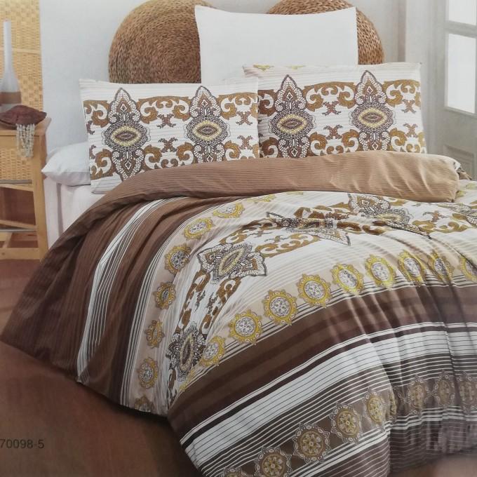 спален комплект-единичен AYTUNC 70098-5  RANFORCE памук 160x220