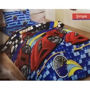 cпален комплект единичен Simsek памук RANFORCE 160x220