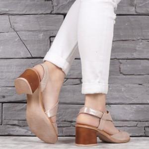 Дамски сандали естествена кожа VISINI 1948