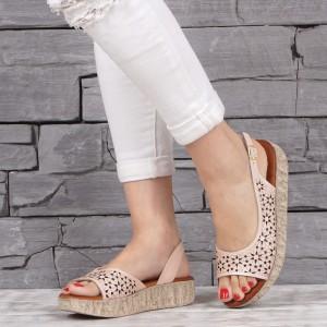 Дамски сандали естествена кожа VISINI 2126