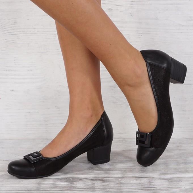 Дамски обувки естествена кожа VISINI 4124