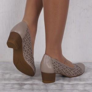 Дамски обувки естествена кожа VISINI 4609