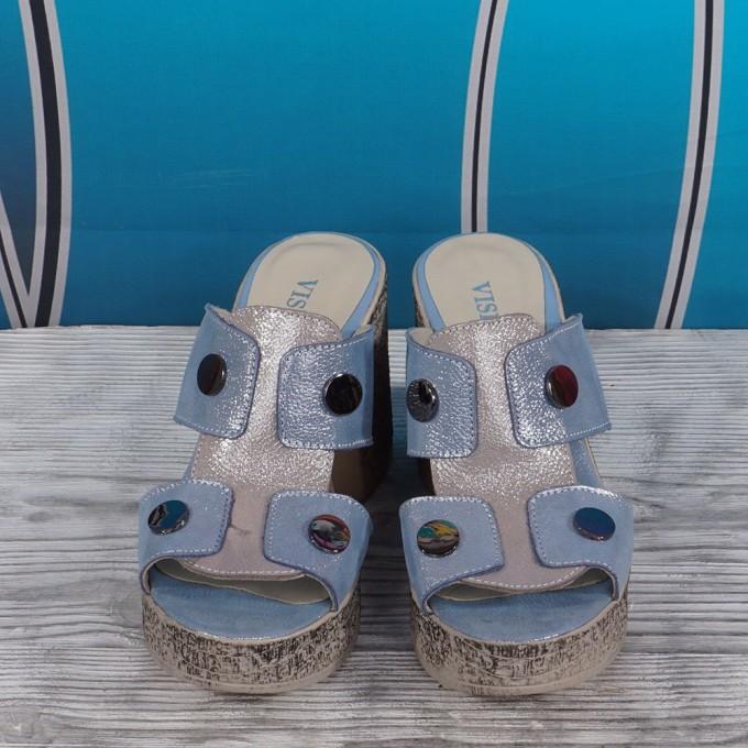 Дамски чехли естествена кожа VISINI 5726