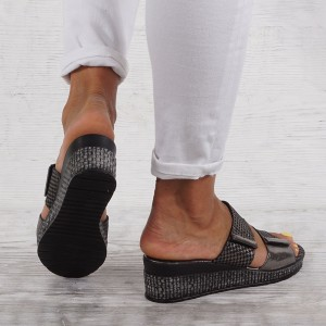 Дамски чехли естествена кожа VISINI 5992